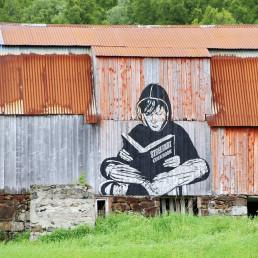 Ziele und Motivation | Graffiti an Hütte